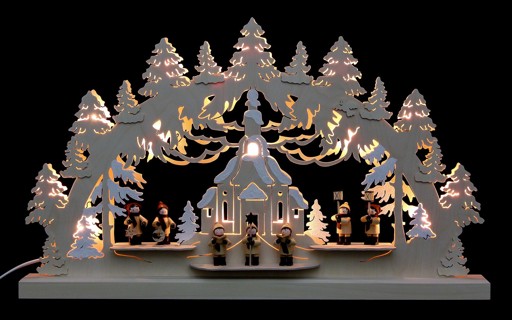 3d doppelschwibbogen seiffener kirche 62x37x5 5cm von michael m ller. Black Bedroom Furniture Sets. Home Design Ideas