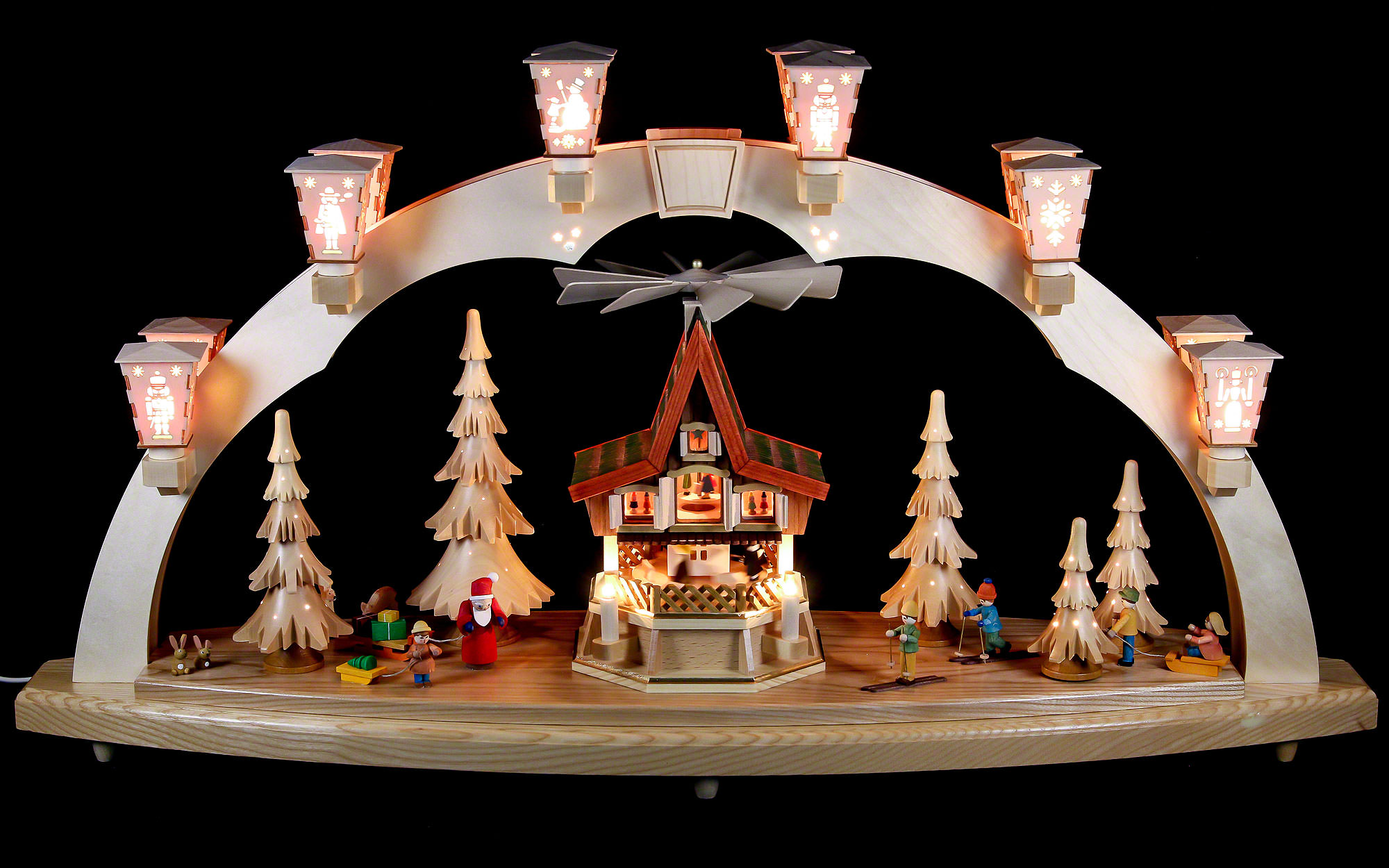 candle arch christmas forest with advent house. Black Bedroom Furniture Sets. Home Design Ideas