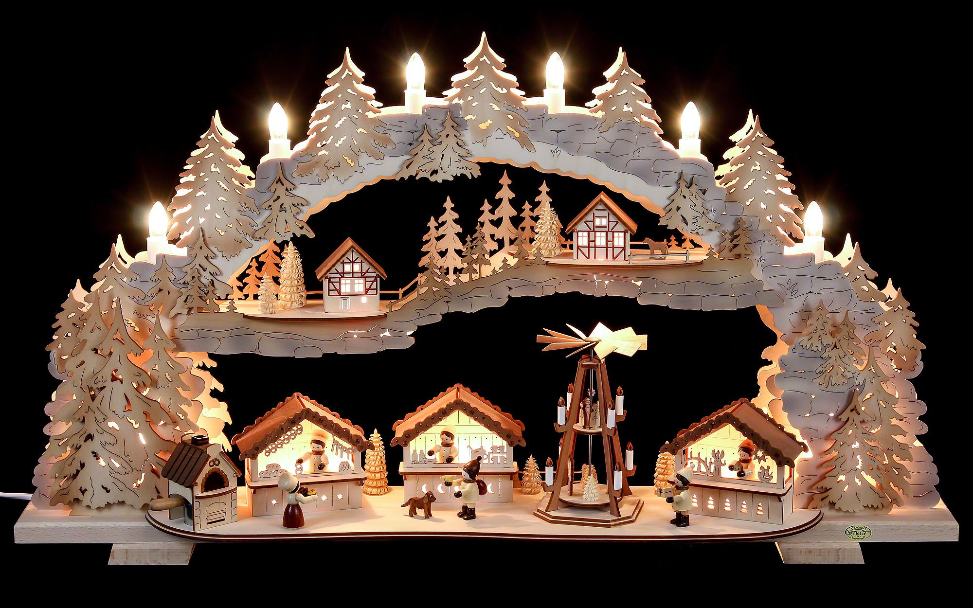 Candle arch christmas market variable 72x43x13cm for Arch candle christmas decoration