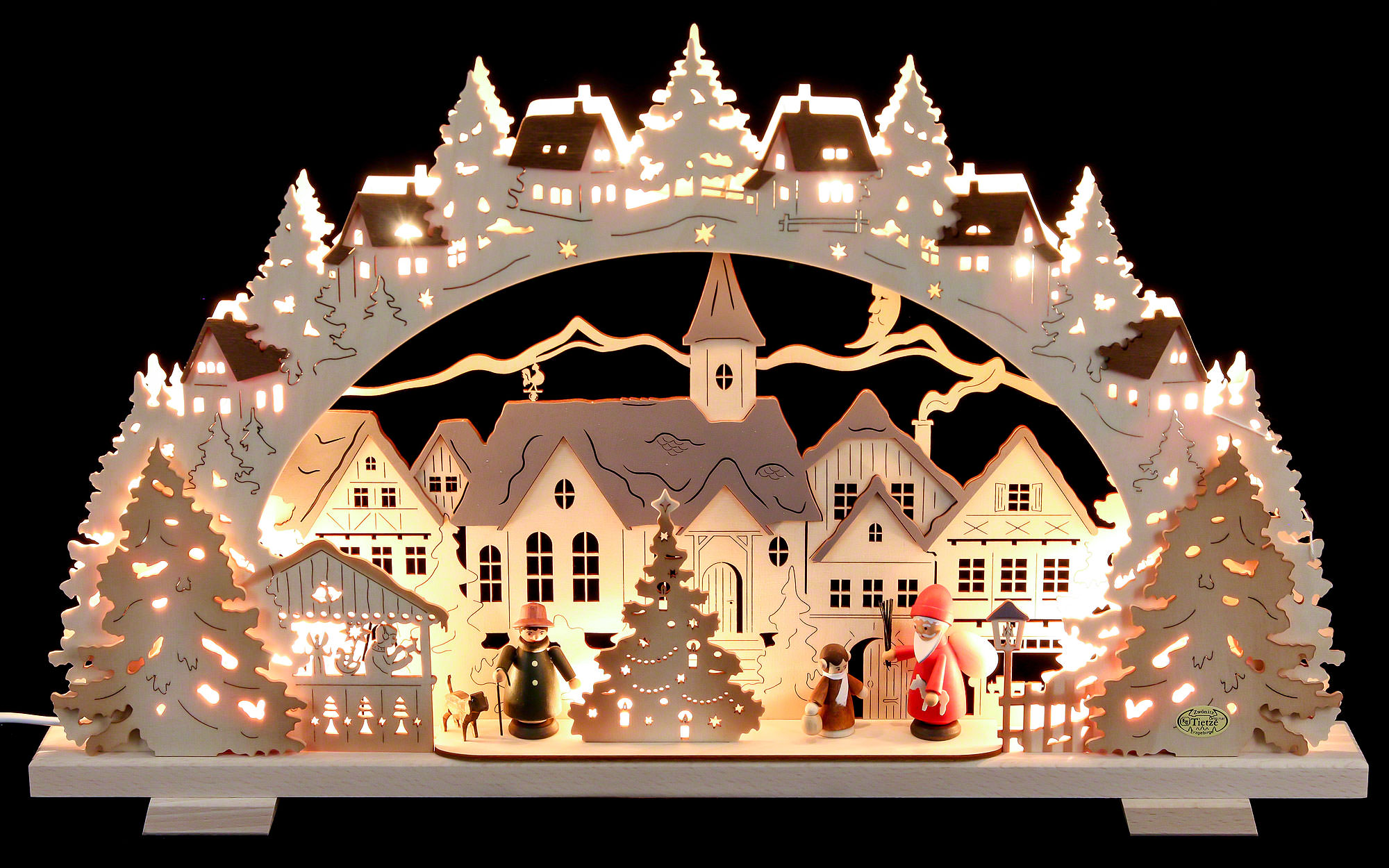 Candle arch christmas time exclusive 53x31x4 5cm 21x8x1 for Arch candle christmas decoration