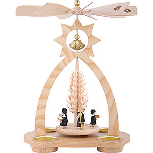 Christmas-Pyramids 1-tier Pyramids 1-Tier Bell-Pyramid Carolers - 29 cm / 11 inch