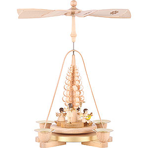 Christmas-Pyramids 1-tier Pyramids 1-Tier Pyramid - Angel Natural Wood - 28 cm / 11 inch