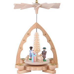 Christmas-Pyramids 1-tier Pyramids 1-Tier Pyramid - Nativity Scene - 19 cm / 7 inch