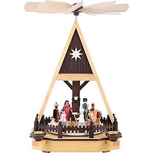 Christmas-Pyramids 1-tier Pyramids 1-Tier Pyramid - Nativity Scene - 34 cm / 13 inch