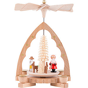 Christmas-Pyramids 1-tier Pyramids 1-Tier Pyramid - Santa Claus - 19 cm / 7 inch