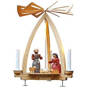 Weihnachtspyramiden 1-stöckige Pyramiden 1-stöckige Außenpyramide Christi Geburt - 300cm
