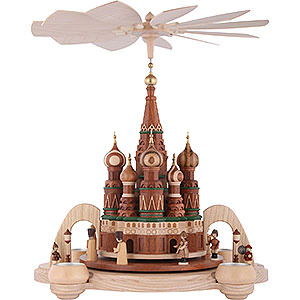 Weihnachtspyramiden 1-stöckige Pyramiden 1-stöckige Pyramide - Basilius-Kathedrale in Moskau - 40cm
