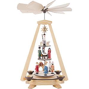 Weihnachtspyramiden 1-stöckige Pyramiden 1-stöckige Pyramide Christi Geburt - 33cm