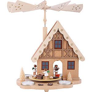 Weihnachtspyramiden 1-stöckige Pyramiden 1-stöckige Pyramide Haus Engelbäckerei für Teelichter - 29cm