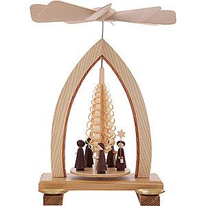 Weihnachtspyramiden 1-stöckige Pyramiden 1-stöckige Pyramide Kurrende - 25cm