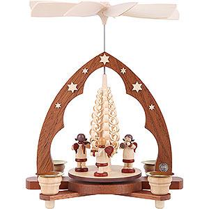 Weihnachtspyramiden 1-stöckige Pyramiden 1-stöckige Pyramide - Musikantenengel - 28 cm