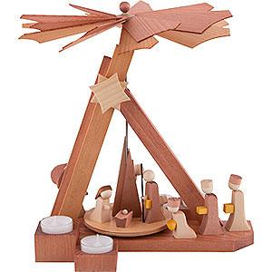 Weihnachtspyramiden 1-stöckige Pyramiden 1-stöckige Pyramide modern Christi Geburt - 30,5cm