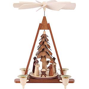 Weihnachtspyramiden 1-st�ckige Pyramiden 1-st�ckige Weihnachtspyramide - Christi Geburt - 29 cm