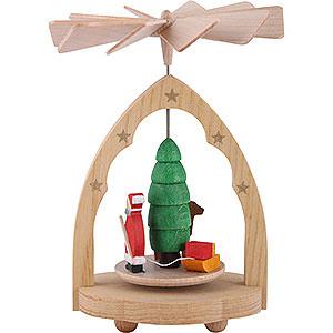 Christmas-Pyramids 1-tier Pyramids 1- tier Mini Pyramid Santa Claus - 4 inch - 10 cm