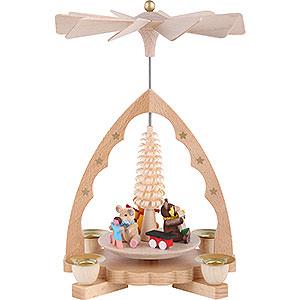 Christmas-Pyramids 1-tier Pyramids 1- tier Pyramid Bear children - 7 inch - 19 cm