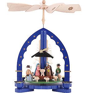 Christmas-Pyramids 1-tier Pyramids 1- tier Pyramid Nativity Scene - 11 inch - 27 cm
