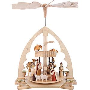 Christmas-Pyramids 1-tier Pyramids 1- tier Pyramid Nativity Scene - 16 inch - 40 cm