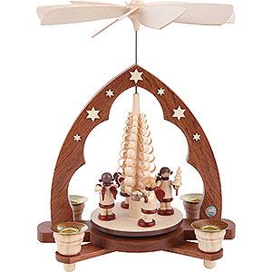 Christmas-Pyramids 1-tier Pyramids 1-tier pyramid - Gift bringing Angels - 28 cm / 11 inch