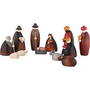 Kleine Figuren & Miniaturen Björn Köhler Krippe klein 12-teiliges Krippenset - 12cm