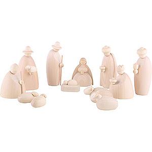 Kleine Figuren & Miniaturen Björn Köhler Krippe klein natur 12-teiliges Krippenset, natur - 12 cm