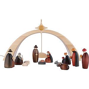 Kleine Figuren & Miniaturen Björn Köhler Krippe klein 14-teiliges Krippenset inklusive Lichtbogen und Stern