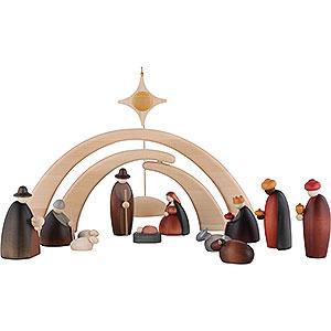 Kleine Figuren & Miniaturen Björn Köhler Krippe klein 14-teiliges Krippenset inklusive Stall und Stern