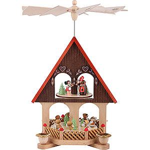 Christmas-Pyramids 2-tier Pyramids 2-Tier Pyramid - House Fairy Tale - 36 cm / 14.2 inch
