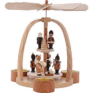 Weihnachtspyramiden 2-stöckige Pyramiden 2-stöckige Pyramide Teelichtpyramide Striezelkinder - 24cm