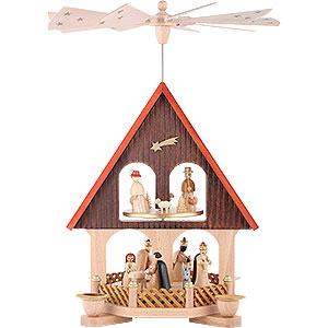 Christmas-Pyramids 2-tier Pyramids 2- tier Pyramid-house Nativity Scene - 14 inch - 36 cm