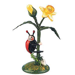 Kleine Figuren & Miniaturen Hubrig Blumenkinder 2er Set Marienkäfer-Narzisse - 5,5cm