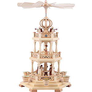 Christmas-Pyramids 3-tier Pyramids 3-Tier Pyramid - The Christmas Story - 44 cm / 17 inch