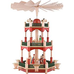 Weihnachtspyramiden 3-stöckige Pyramiden 3-stöckige Pyramide Christi Geburt - 39 cm