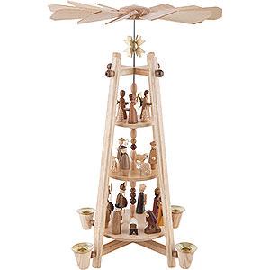 Weihnachtspyramiden 3-stöckige Pyramiden 3-stöckige Pyramide Christi Geburt - 44cm