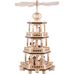 Weihnachtspyramiden 3-stöckige Pyramiden 3-stöckige Pyramide - Heilige Geschichte - 51 cm