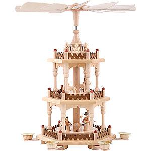 Weihnachtspyramiden 3-stöckige Pyramiden 3-stöckige Pyramide Krippenszene - 41 cm