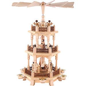 Weihnachtspyramiden 3-stöckige Pyramiden 3-stöckige Pyramide - Zur Weihnacht - 45 cm