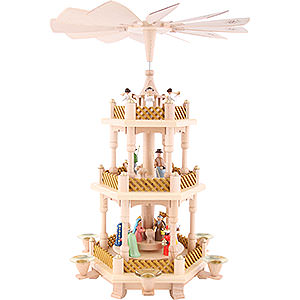 Christmas-Pyramids 3-tier Pyramids 3- tier Pyramid Nativity Scene painted - 16 inch - 40 cm