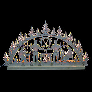 Candle Arches Fret Saw Work 3D Double Arch - Miner - 72x40x5,5 cm / 28x16x2 inch