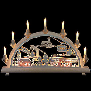 Candle Arches Fret Saw Work 3D Double Arch - Oberwiesenthal - 50cmx32cm / 20x12.6inch