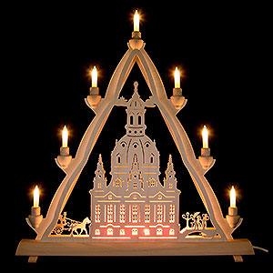 Lichterwelt Lichterspitzen 3D-Lichterspitze Dresdner Frauenkirche - 50x55 cm