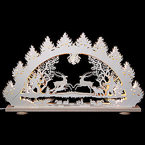 Candle Arches Fret Saw Work 3D-Light-Arch - Deer - 66 x 43 x 6 cm