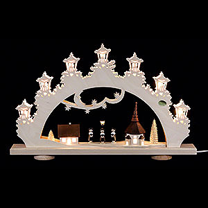 Schwibbögen Laubsägearbeiten 3D-Schwibbogen Kurrende-Sänger - 52x32x6cm