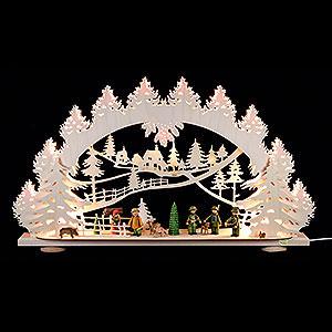 Schwibb�gen Laubs�gearbeiten 3D-Schwibbogen Waidmannsheil - 66x40x8,5cm