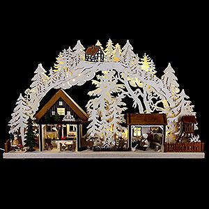 Schwibbögen Laubsägearbeiten 3D Schwibbogen Walki-Weihnachtsbäckerei - 72x43cm