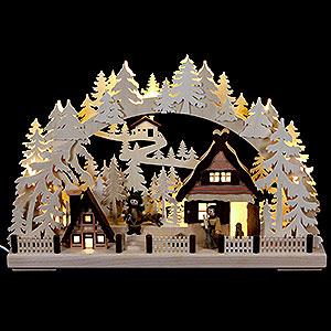 Schwibbögen Laubsägearbeiten 3D Schwibbogen Weihnachtsvorbereitung - 43x30cm