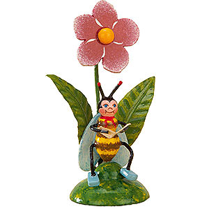 Kleine Figuren & Miniaturen Hubrig Blumenkinder 3er Set Bienchens Morgenpost - 6cm