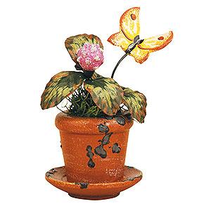Kleine Figuren & Miniaturen Hubrig Blumenkinder 3er Set Blumentopf Kleeblume - 6cm