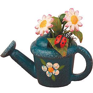 Kleine Figuren & Miniaturen Hubrig Blumenkinder 3er Set Gießkanne mit Gänseblümchen - 4 cm
