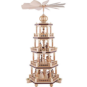 Christmas-Pyramids 4-tier Pyramids 4-Tier Christmas Pyramid - The Christmas Story - 64 cm / 25 inch