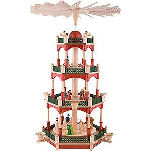 Weihnachtspyramiden 4-stöckige Pyramiden 4-stöckige Pyramide Christi Geburt - 53 cm